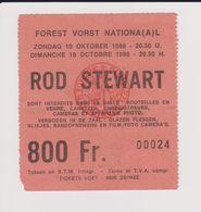 Concert ROD STEWART 19 Octobre 1986 à Forest B. - Concert Tickets