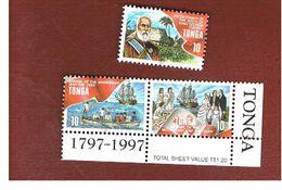 TONGA   -  SG 1406.1408 - 1997 BICENTENARY OF KING GEORGE I & OF CHRISTIANITY IN TONGA  -   MINT** - Tonga (1970-...)