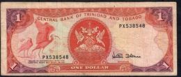 TRINIDAD AND TOBAGO P36d 1 DOLLAR 1985  #PX     FINE - Trinité & Tobago