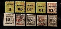 Martinique Dix Timbres Anciens Neufs Et Oblitérés 1886/1892. Bonnes Valeurs. B/TB. A Saisir! - Ungebraucht