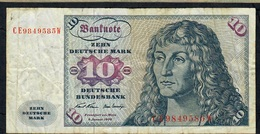 GERMANY P31a 10 DEUTSCHE MARK 1970 #CE    FINE NO P.h. - [ 7] 1949-… : FRG - Fed. Rep. Of Germany