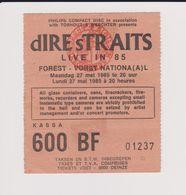 Concert DIRE STRAITS 27 Mai 1985 à Forest B. - Tickets De Concerts