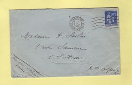 Frankers - Paris VIII - 5 Lignes Ondulees - 1-1-1939 - Marcophilie (Lettres)