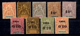 Martinique Neuf Timbres Type Groupe 1892/1901. Bonnes Valeurs. B/TB. A Saisir! - Ungebraucht