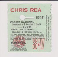 Concert CHRIS REA  4 Février 1990 à Forest B. - Tickets De Concerts