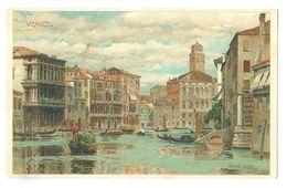 1910, Italy, Venice, Grand Canal. Printed Pc, Used, Sent In USA. - Venezia (Venice)