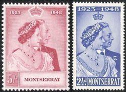 Montserrat,  Scott 2016 # 106-107,  Issued 1949,  Set Of 2,  MNH,  Cat $ 9.25,  QE II - Montserrat