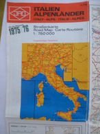 ITALIE Et Les ALPES :De Stuttgart à La SICILE - De LYON à ZAGRED - 1976/76 - Strassenkarten