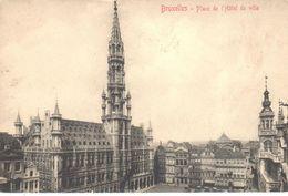 Brussel - Bruxelles - Place De L'Hôtel De Ville - Places, Squares