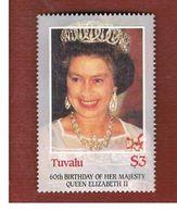 TUVALU   -  SG 384 - 1986   60th BIRTHDAY OF QUEEN ELIZABETH II    -   MINT** - Tuvalu