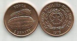 Tonga 2 Seniti 1975. FAO  High Grade - Tonga