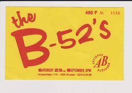 Concert THE B-52'S 23 Septembre Bruxelles/Brussel - Concert Tickets