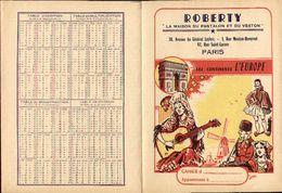 Protège Cahiers - ROBERTY Maison Du Pantalon Paris - Les Continents L'EUROPE, Illust. Jean - Book Covers
