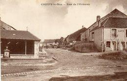 CPA - COIFFY-le-BAS (52) - Aspect Du Café Et Du Fontaine-Lavoir Au Bas De La Rue De L'Ormeau - Année 30 - France