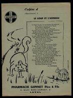 Protège Cahiers - Pharmacie GONNET, LAVAL - Le Loup Et L'Agneau - Illust. Fontvieille - Book Covers