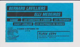 Concert FESTIVAL DOUR B. 16 Septembre 1989, BERNARD LAVILLIERS, ELLI MEDEIROS, ETC. - Tickets De Concerts