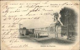 34 - MONTPELLIER - Entrée Du Peyrou - Carte Nuage - Montpellier