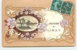 Carte Gaufrée - Souvenir De LIMAY - Limay