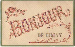 Carte à Paillettes - Bonjour De LIMAY - Limay