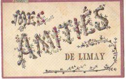 Carte à Paillettes - Mes Amitiés De LIMAY - Limay