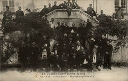 44 - NANTES - La Guerre Européenne De 1914 - Soldats Blessés - Hopital Temporaire N° 3 - Ecole Chavagne - - Nantes