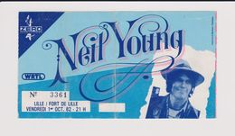Concert NEIL YOUNG 1 Octobre 1982 Lille - Concert Tickets