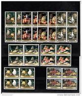 España Nº 2360 Al 2367 En Bloque De Cuatro - 1971-80 Unused Stamps