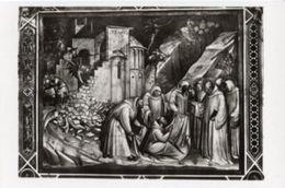 Firenze - Cartolina S. BENEDETTO RISUSCITA CONFRATELLO MORTO X CADUTA MURO CONVENTO MONTE CASSINO (marcato 4511) - P72 - Sculture