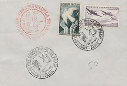 Paris 1946 - Commémoration Service Postal Par Ballon - Ballons Montés - Moulin De Valmy - Marcophilie (Lettres)