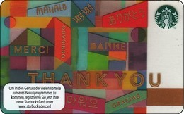 """Germany  Starbucks Card """"Thank You"""" 2015-6133 - Gift Cards"""