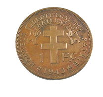 1 Franc - Madagascar - 1943 - Bronze - TTB - - Madagascar