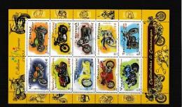 A12743)Frankreich 3645 - 3654 KLB**, Motorrad - Neufs