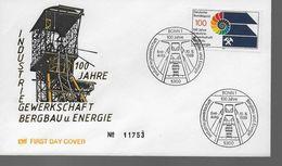 ALLEMAGNE    FDC   1989    Mine Charbon  Fer - Sciences