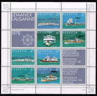 Schweiz 1978, Michel# Block 23 ** - Ships