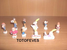 SERIE COMPLETE TITEUF DE 10 FEVES N°142 - Other