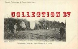 OF ☺♥♥ MENHIRS De La JUSTICE à St PANTHALEON - MENHIR - CONGRES PHEHISTORIQUE D'AUTUN 1907 - ARCHEOLOGIE  PHEHISTOIRE - Dolmen & Menhirs