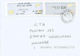 France 2011 St Michel Avions En Papier Meter ATM EMA Cover - 2010-... Geïllustreerde Frankeervignetten