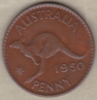Australie 1 Penny 1950 Melbourne, Sans Point, George VI. KM# 43 - Monnaie Pré-décimale (1910-1965)