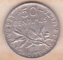 50 Centimes Semeuse 1917, En Argent - France