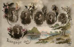Langage Des Noms - Prénoms Prénom Name - Carte Photo - Paul Louis Henri Léon Charles & Emile - AA71 - Prénoms