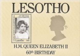 Lesotho,  Scott 2014 # 534,  Issued 1986  S/S Of 1,  NH,  Cat $ 1.50,  QE II - Lesotho (1966-...)