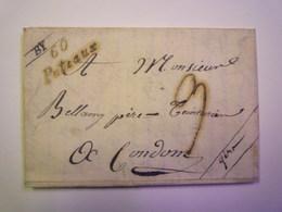 LETTRE Au Départ De 60  PUTEAUX  (cursives)  à Destination De CONDOM   1938    - Unclassified