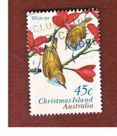 ISOLA CHRISTMAS (CHRISTMAS ISLAND) - SG 428 - 1996  BIRDS: WHITE EYE - USED° - Christmas Island