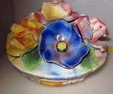 CENTRO TAVOLA VINTAGE D 18 CM. H 14 CM. - Ceramica & Terraglie