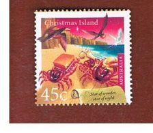 ISOLA CHRISTMAS (CHRISTMAS ISLAND) - SG 486 - 2000  CHRISTMAS: CRABS WITH GIFTS                - USED° - Christmas Island