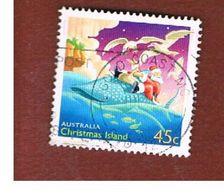 ISOLA CHRISTMAS (CHRISTMAS ISLAND) - SG 526 - 2003 CHRISTMAS: SANTA CLAUS                - USED° - Christmas Island
