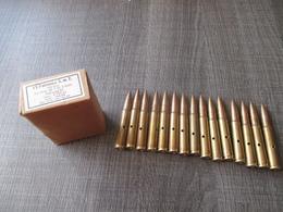 Boite Complète 15 Cartouches 7,92  Mauser  Neutralisées 1944 - Decorative Weapons