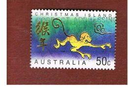 ISOLA CHRISTMAS (CHRISTMAS ISLAND) -  2004 YEAR OF THE MONKEY                - USED° - Christmas Island