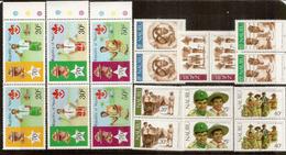 Le Scoutisme à L'île NAURU,   18  Timbres Neufs **   2 Séries En Paires Se-tenant - Nauru