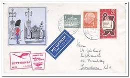 Berlijn 1961, Lufthansa, Boeing Flight Frankfurt-London - [5] Berlijn